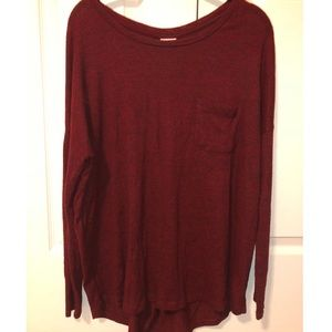Red Lightweight Sweater